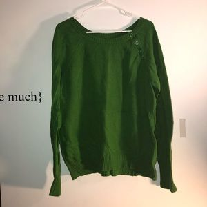 Kelly green sweater